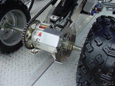 Suzuki LTZ 400 KFX 400 DVX HEPATV aluminum rear caliper guard new!!